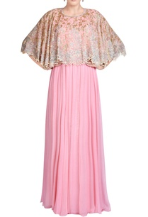 pink-gown-with-bead-embroidered-cape