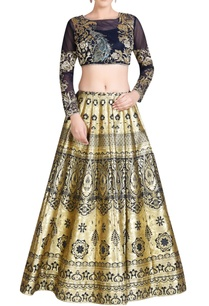 black-gold-lehenga-set-with-embroidery