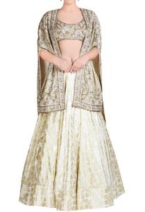 ivory-embroidered-lehenga-set-with-cape