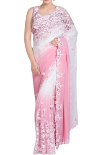 pink-white-shaded-sari-with-3d-flowers