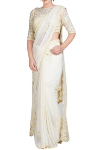 pale-yellow-embroidered-sari-set-with-jacket