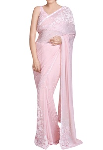 pink-sari-with-3d-flowers