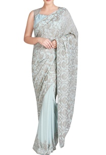 blue-sari-set-with-jaal-embroidery