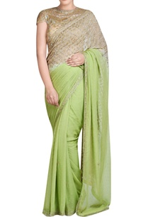 green-gold-shaded-sari-with-embroidery
