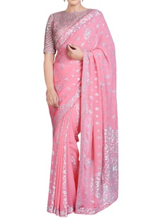 pink-sari-set-with-jaal-embroidery