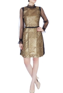 gold-sequin-dress-with-flared-sleeves