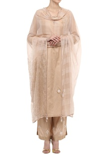 beige-zari-work-kurta-set