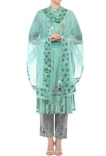 aqua-blue-embroidered-kurta-set
