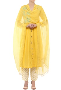 yellow-kurta-with-printed-palazzo-dupatta
