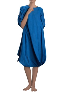 cobalt-blue-cowl-dress