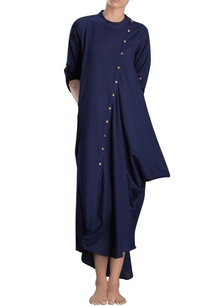 navy-blue-asymmetric-maxi-dress