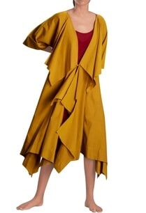 mustard-yellow-long-draped-jacket