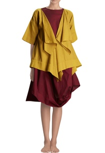 mustard-yellow-draped-jacket