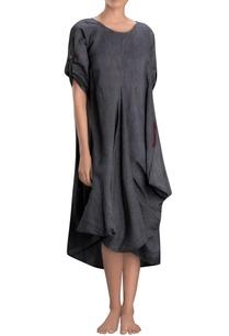 charcoal-grey-cowl-dress