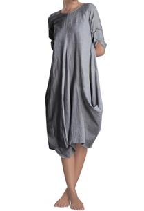 light-grey-cowl-dress