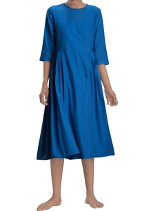 cobalt-blue-midi-dress