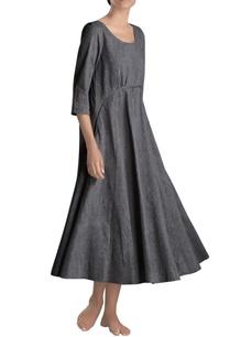 charcoal-grey-midi-dress