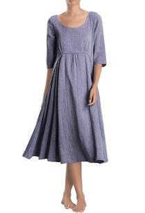 light-blue-midi-dress