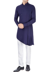 navy-blue-kurta-in-one-side-drape-design
