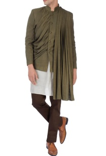 khaki-brown-bandhgala-set