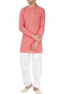 pink-short-kurta-set-with-gold-embroidery