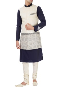 navy-blue-kurta-with-sleeveless-jacket