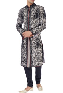 blue-gray-sherwani-set