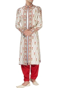 beige-sherwani-set-with-multicolored-embroidery