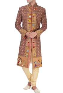 red-baraat-embroidered-sherwani