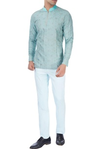 mint-blue-kurti-with-sky-blue-trousers
