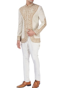 beige-bandhgala-jacket-with-gold-embroidery