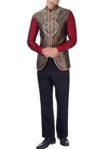 black-bandhgala-jacket-with-gold-embroidery