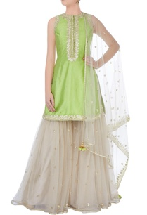 light-green-kurta-with-sharara-pants