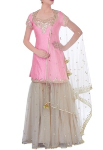 pink-cream-sharara-set