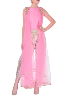 pink-drape-top-with-dhoti-pants