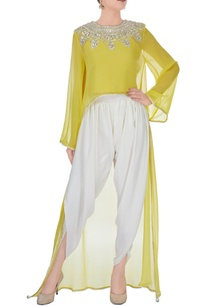 yellow-top-cream-pants