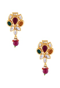 multicolored-earrings-with-white-studs