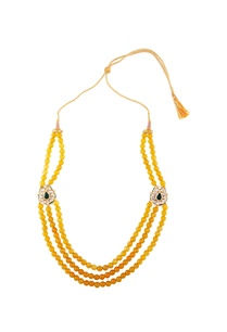 yellow-three-tier-bead-necklace