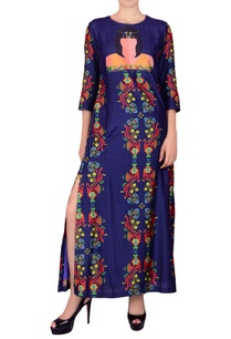 deep-blue-printed-maxi-dress