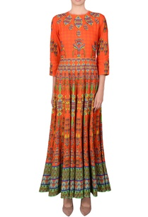 orange-printed-kalidar-kurta