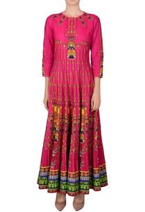 pink-printed-kalidar-kurta