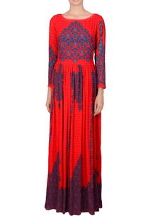 red-gathered-maxi-dress
