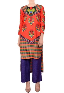 orange-high-low-kurta-palazzos