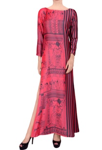 pink-black-printed-maxi-dress