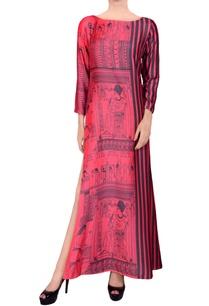 pink-black-printed-maxi-dress