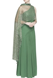 green-one-shoulder-gown-with-sequin-drape
