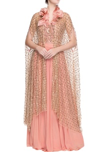 rose-pink-lehenga-with-cardigan-drape