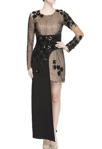 black-maxi-gown-with-sequin-work