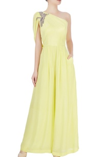 lime-green-jumpsuit-with-bird-motif