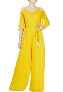 yellow-jumpsuit-with-beaded-tassels